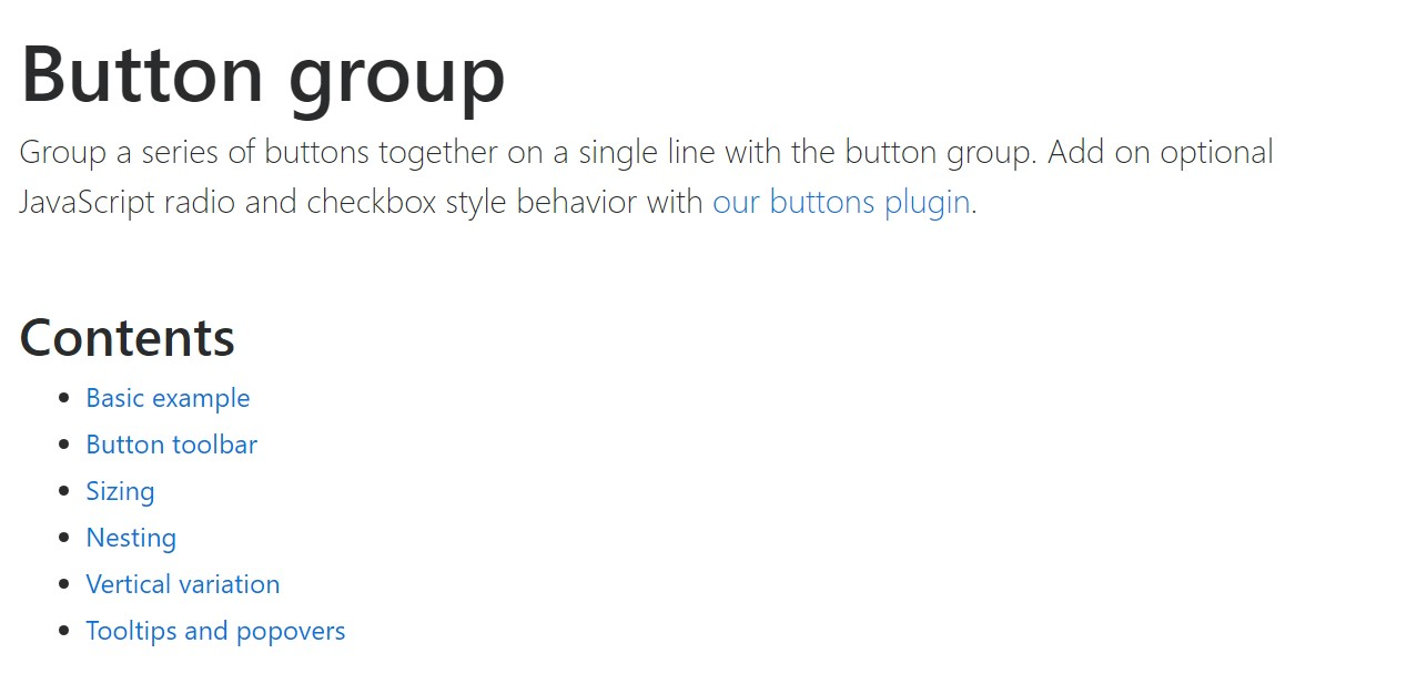 Bootstrap button group  approved documentation