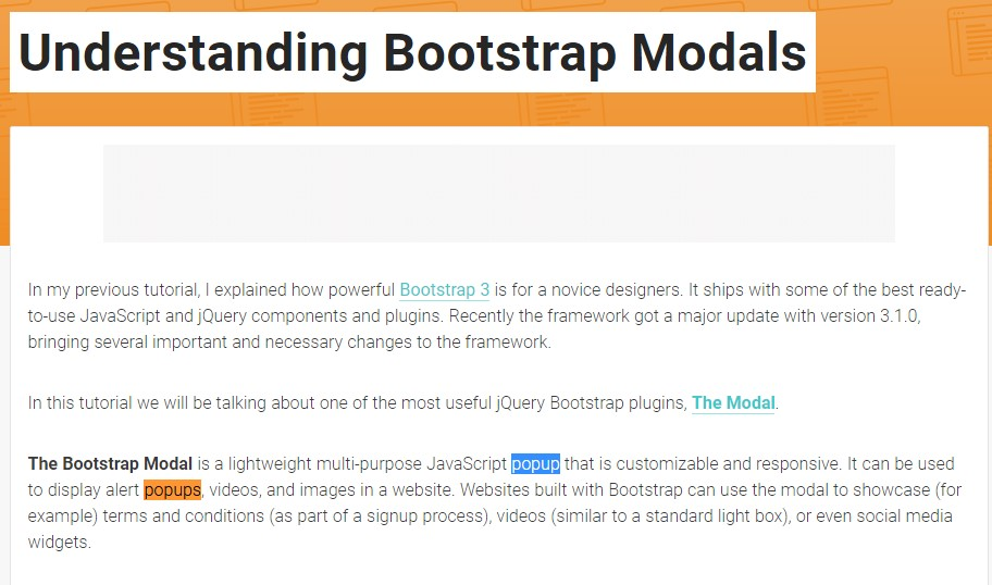 Yet another  beneficial article  regarding Bootstrap Modal Popup