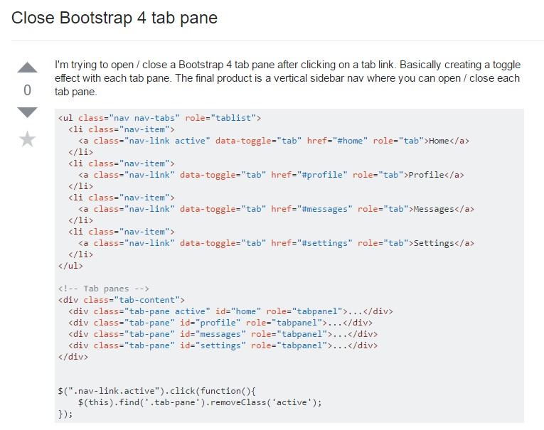 The best ways to  close up Bootstrap 4 tab pane