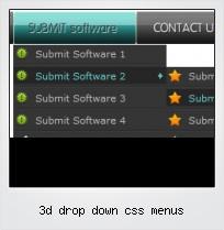 3d Drop Down Css Menus