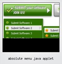 Absolute Menu Java Applet