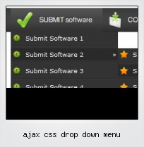 Ajax Css Drop Down Menu