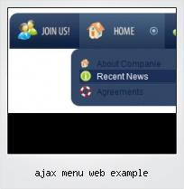 Ajax Menu Web Example