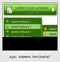 Ajax Submenu Horizontal