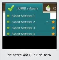 Animated Dhtml Slide Menu