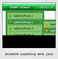 Animated Expanding Menu Java