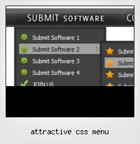Attractive Css Menu