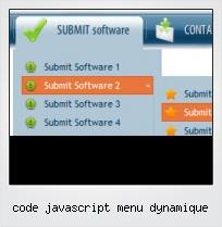Code Javascript Menu Dynamique