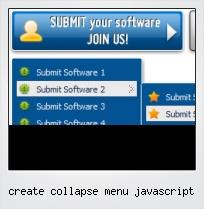 Create Collapse Menu Javascript
