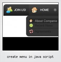 Create Menu In Java Script