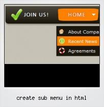 Create Sub Menu In Html