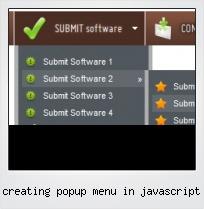 Creating Popup Menu In Javascript