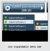 Css Expandable Menu Bar