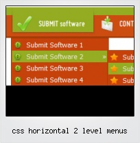 Css Horizontal 2 Level Menus