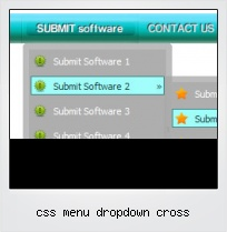 Css Menu Dropdown Cross