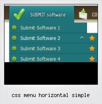 Css Menu Horizontal Simple