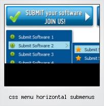 Css Menu Horizontal Submenus
