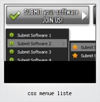 Css Menue Liste