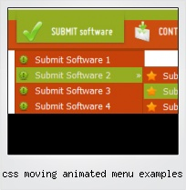 Css Moving Animated Menu Examples
