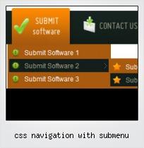 Css Navigation With Submenu