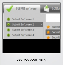 Css Popdown Menu
