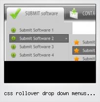 Css Rollover Drop Down Menus Sample