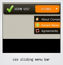 Css Sliding Menu Bar