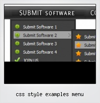 Css Style Examples Menu