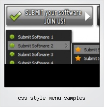 Css Style Menu Samples