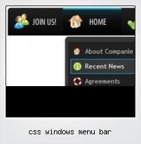 Css Windows Menu Bar