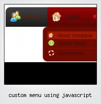 Custom Menu Using Javascript