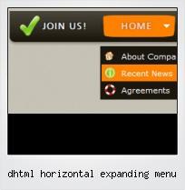 Dhtml Horizontal Expanding Menu