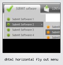 Dhtml Horizontal Fly Out Menu