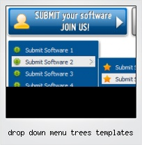 Drop Down Menu Trees Templates