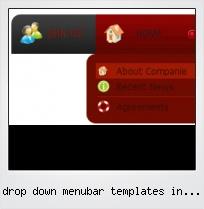 Drop Down Menubar Templates In Css Html