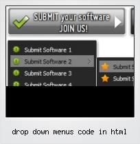 Drop Down Menus Code In Html