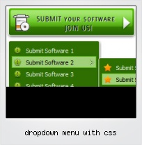 Dropdown Menu With Css