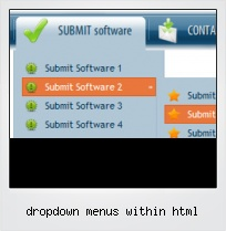 Dropdown Menus Within Html