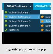 Dynamic Popup Menu In Php