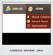 Ejemplos Menubar Java