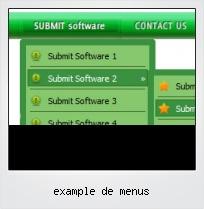 Example De Menus