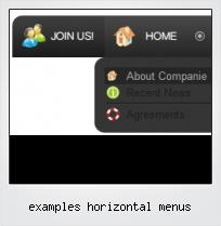 Examples Horizontal Menus