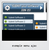 Exemple Menu Ajax