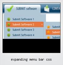 Expanding Menu Bar Css