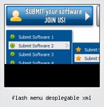 Flash Menu Desplegable Xml