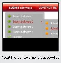 Floating Context Menu Javascript