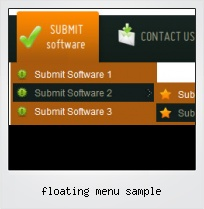 Floating Menu Sample