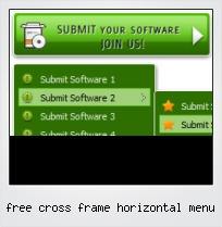 Free Cross Frame Horizontal Menu