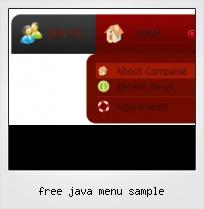 Free Java Menu Sample