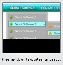 Free Menubar Templates In Css Free Downloads